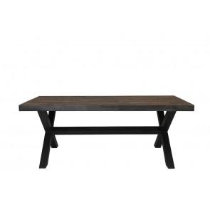 Stôl 200x90x76,5 cm MORTARA zinc+wood