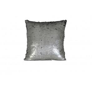 Vankúš 40x40 cm SPARKLE sequin silver-black