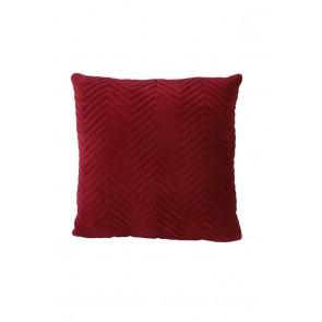 Vankúš 50x50 cm CHEVRON velvet dark pink