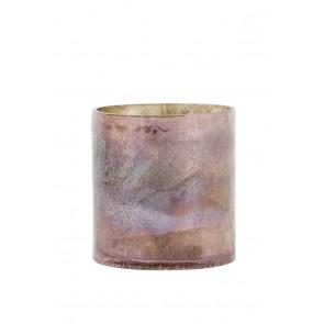 Svietnik Ř10x11 cm BORBA old pink