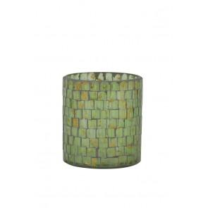 Svietnik Ř8x9 cm ALEGRETE mosaic gold