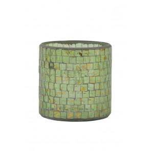 Svietnik Ř10x11 cm ALEGRETE mosaic gold