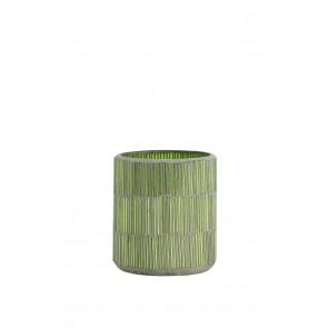 Svietnik Ř7x8 cm FORTIOS light green