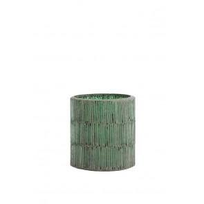 Svietnik Ř7x8 cm FORTIOS dark green