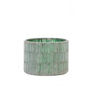 Svietnik Ř11x8,5 cm FORTIOS dark green