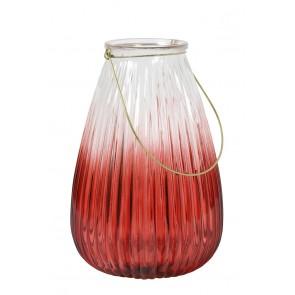 Lucerna Ř22,5x33,5 cm PAXT glass burgundy+gold