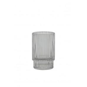 Svietnik Ř6x10 cm PHILON glass grey