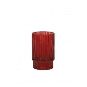 Svietnik Ř6x10 cm PHILON glass burgundy