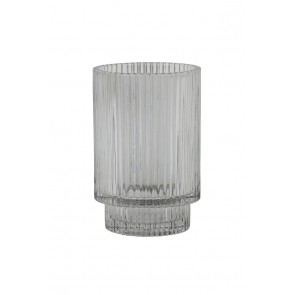 Svietnik Ř8,5x13 cm PHILON glass grey