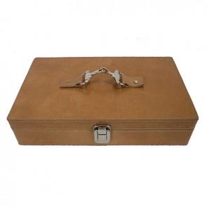 Box na hodinky, hnedá koža 25x20x10cm