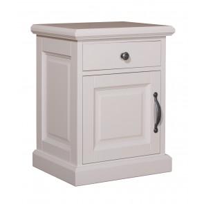 """Nočný stolík Vitrína """"Monique"""" 1 dvierka 1 zásuvka - ľavé otváranie"""