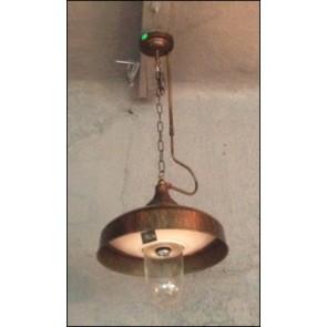 Lampa závesná kovová,20x40x40 cm