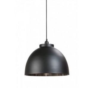 Lampa závesná KYLIE (čierna / nikel), priemer 45 cm