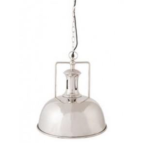 Lampa závesná nikel, priemer 29 cm