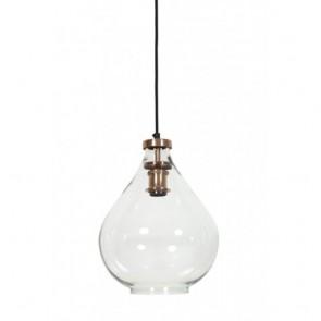 Lampa závesná sklenená, rozmery: 36x39 cm
